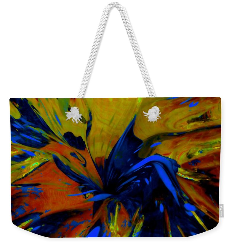 Abstract Weekender Tote Bag featuring the photograph The Dark Knight by Tim G Ross