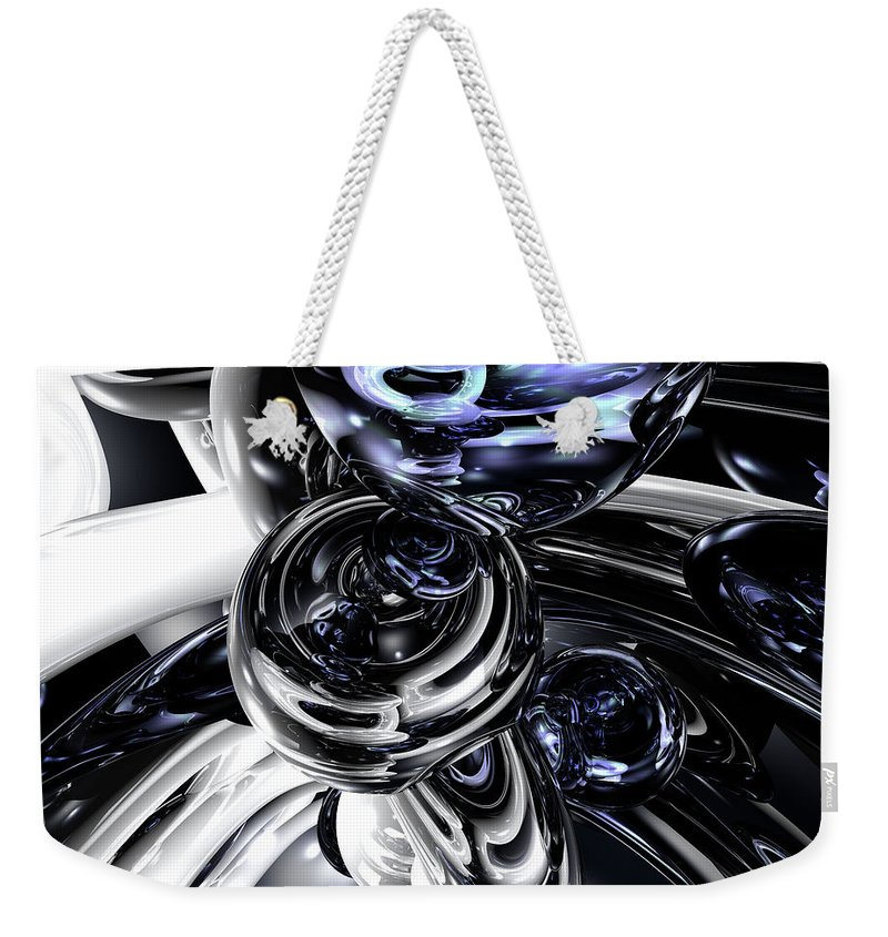 3d Weekender Tote Bag featuring the digital art The Darkside Abstract by Alexander Butler
