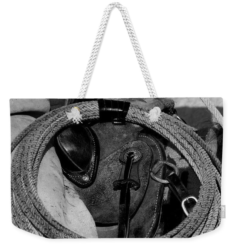 Black & White Weekender Tote Bag featuring the photograph The Day Begins by Sandra Bronstein