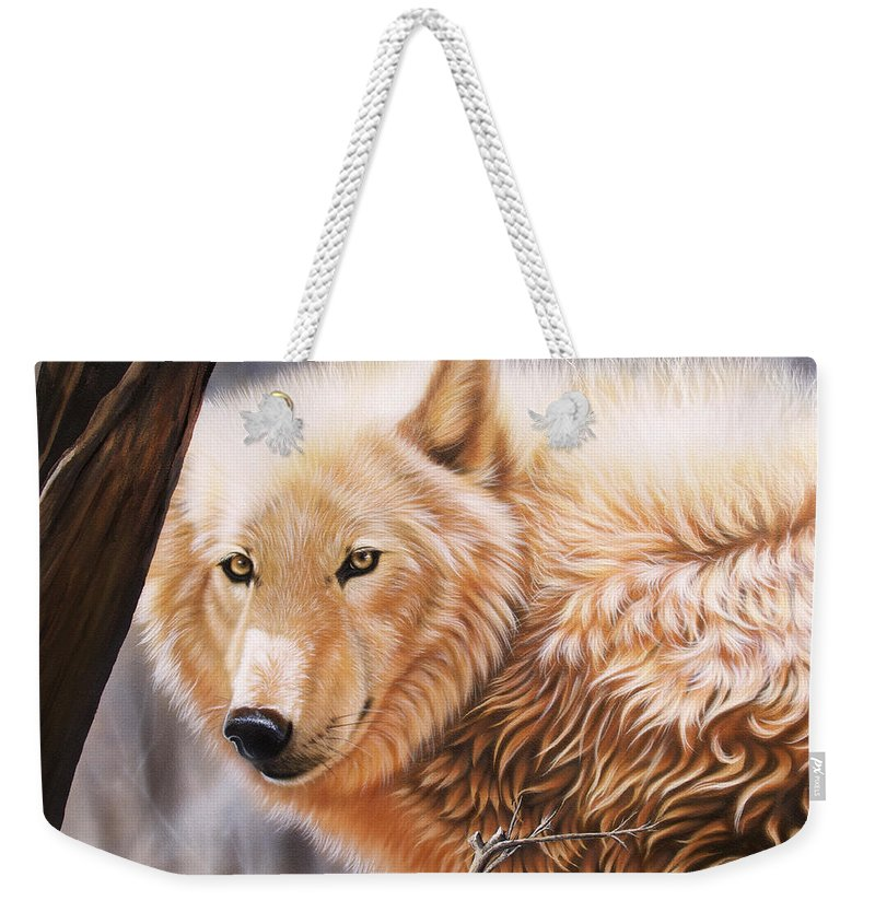 Acrylic Weekender Tote Bag featuring the painting The Daystar II by Sandi Baker
