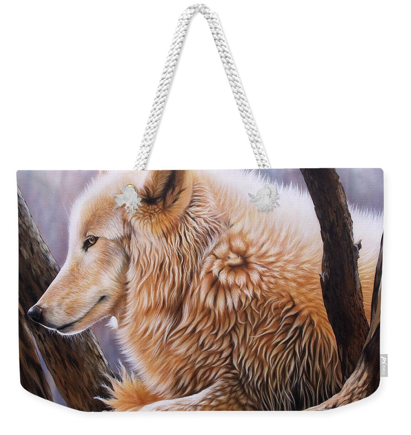 Acrylic Weekender Tote Bag featuring the painting The Daystar by Sandi Baker