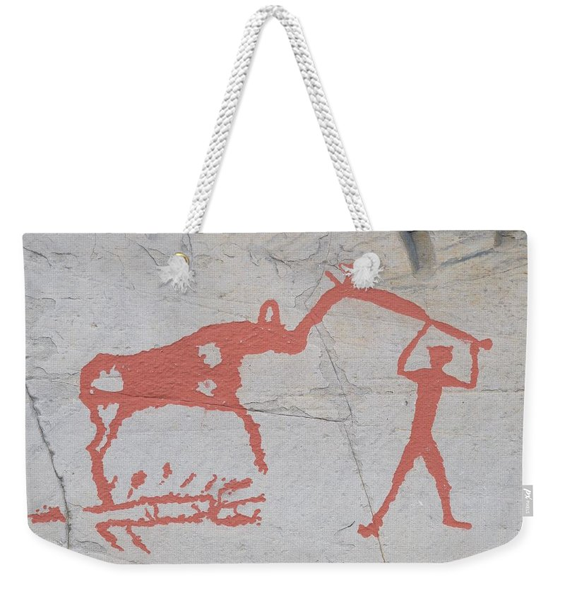 Alta Weekender Tote Bag featuring the photograph The Deer And Female Hunter by Jouko Lehto