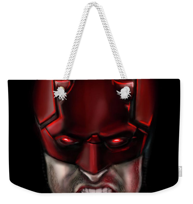 The Devil Of Hell S Kitchen Weekender Tote Bag For Sale By Vinny John Usuriello