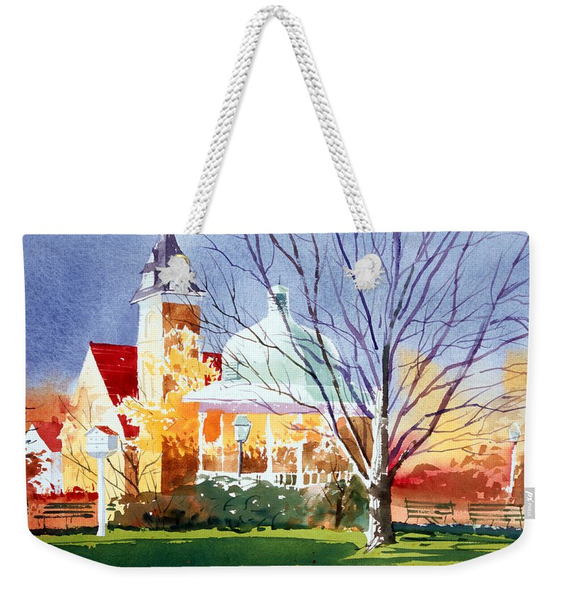 Ligonier Weekender Tote Bag featuring the painting The Diamond In October by Lee Klingenberg