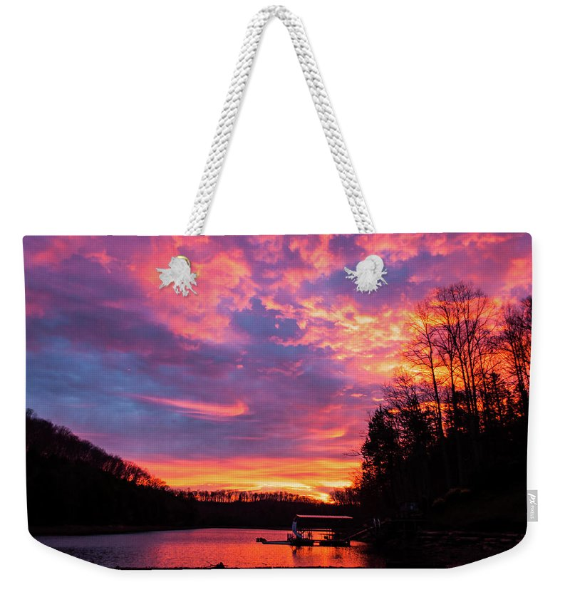 Dock Weekender Tote Bag featuring the photograph The Dock by Michelle Rollins