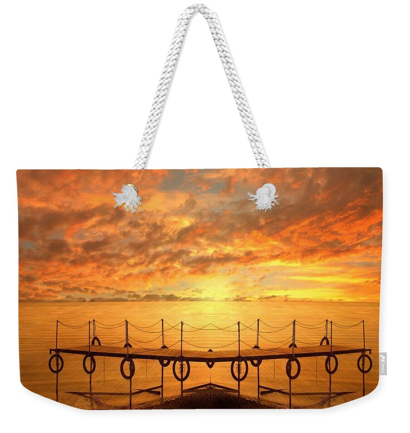 Waterscape Weekender Tote Bag featuring the photograph The Dock by Jacky Gerritsen
