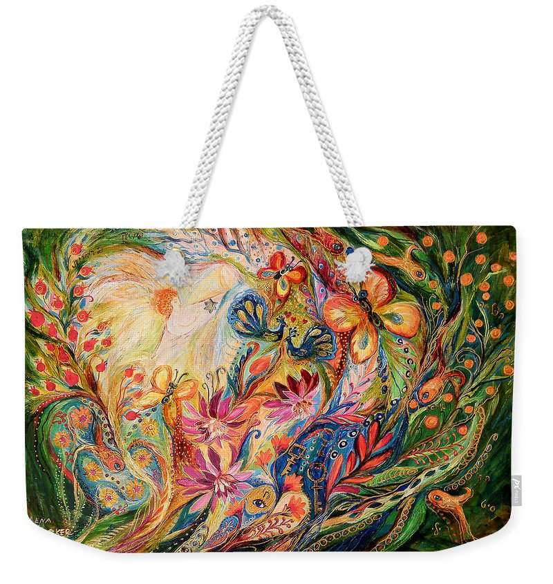 Original Weekender Tote Bag featuring the painting The Domination Of Green by Elena Kotliarker