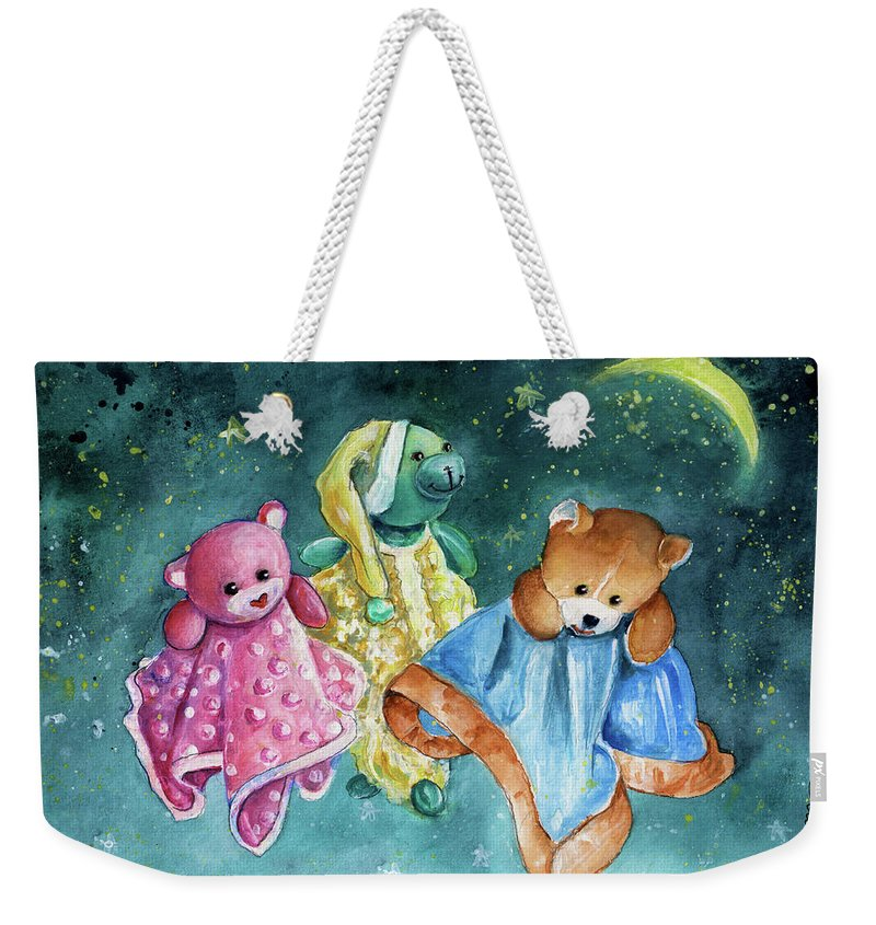 Truffle Mcfurry Weekender Tote Bag featuring the painting The Doo Doo Bears by Miki De Goodaboom
