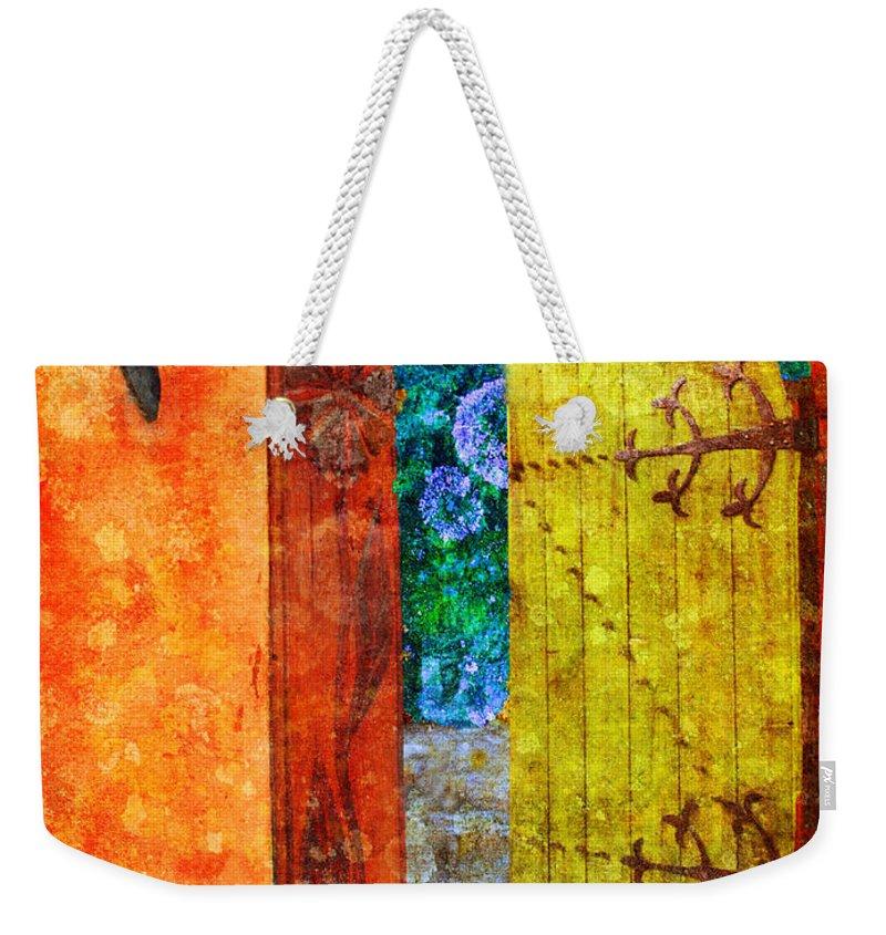 Door Weekender Tote Bag featuring the photograph The Door Is Always Open by Tara Turner