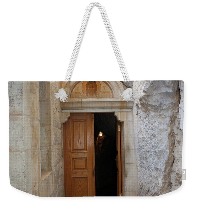 Photograph Weekender Tote Bag featuring the photograph The Door by Munir Alawi