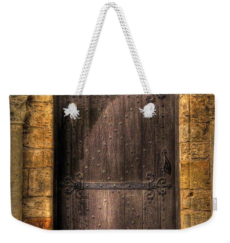 Door Weekender Tote Bag featuring the photograph The Door by Svetlana Sewell