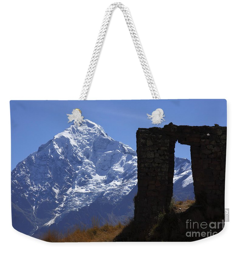 Peru Weekender Tote Bag featuring the photograph The Door To Heaven by James Brunker