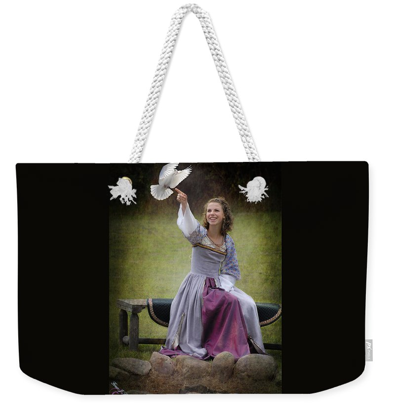 Dove Weekender Tote Bag featuring the photograph The Dove by Fran J Scott