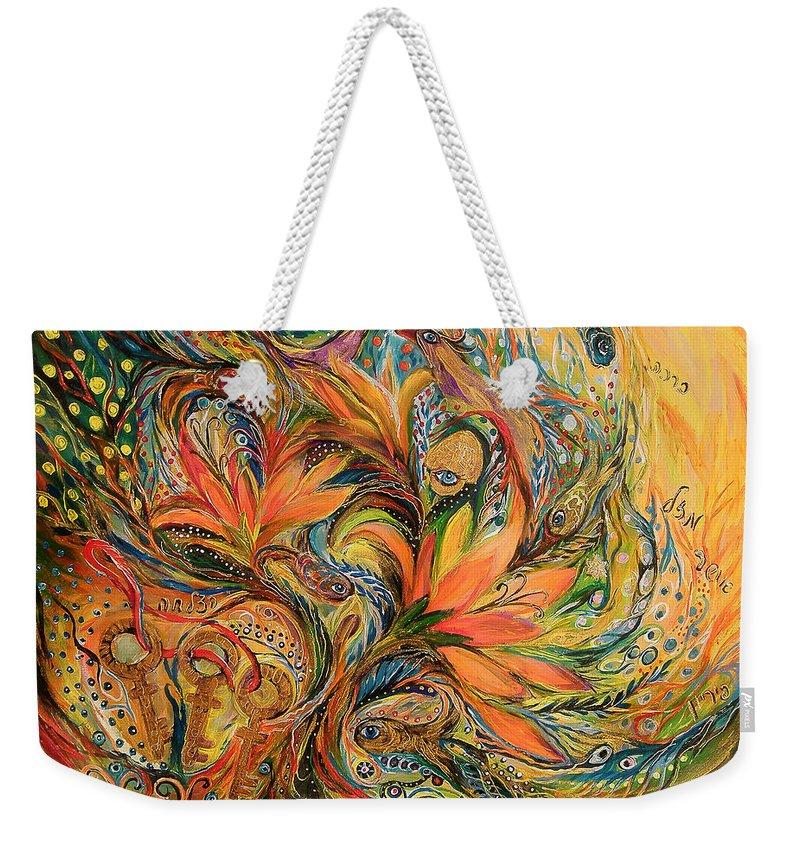 Original Weekender Tote Bag featuring the painting The Dream by Elena Kotliarker
