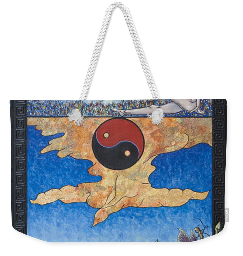 Karma Weekender Tote Bag featuring the painting The Dream by Judy Henninger