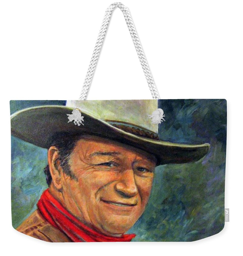 People Weekender Tote Bag featuring the painting The Duke by Donna Tucker
