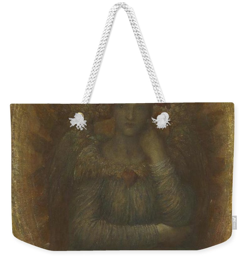 George Frederic Watts 1817�1904  The Dweller In The Innermost Weekender Tote Bag featuring the painting The Dweller In The Innermost by George Frederic