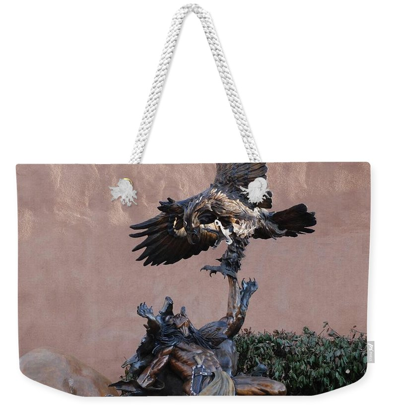 Eagle Weekender Tote Bag featuring the photograph The Eagle And The Indian by Rob Hans