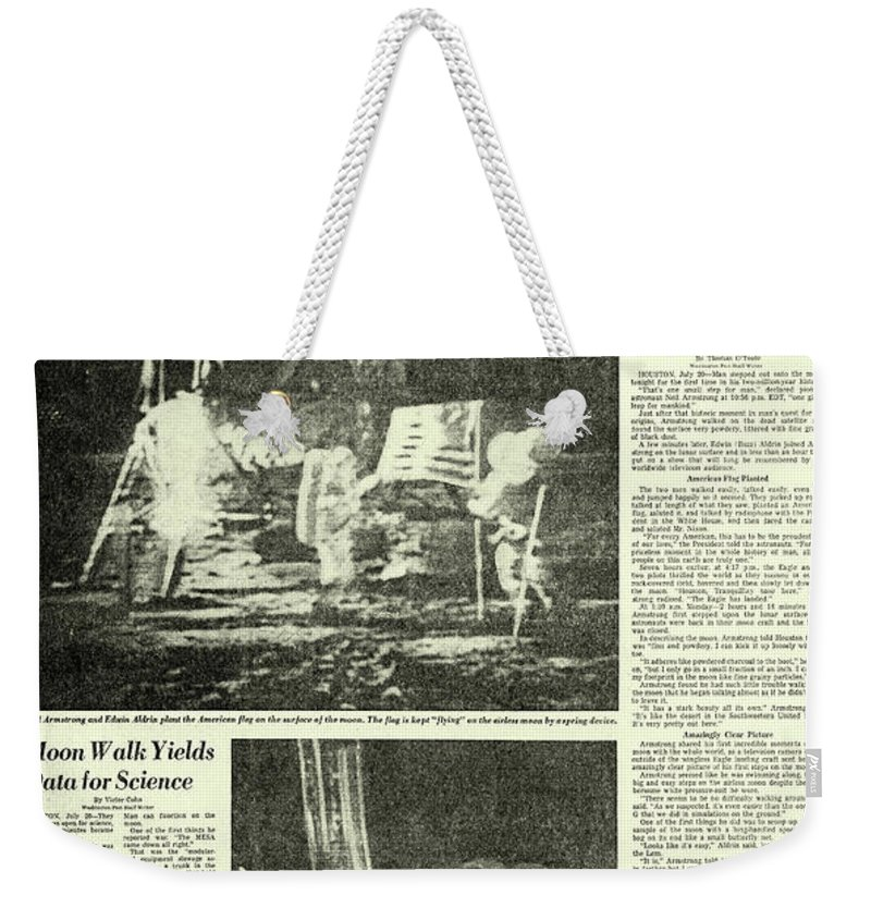 Moon Walk Weekender Tote Bag featuring the photograph The Eagle Has Landed by Jon Neidert