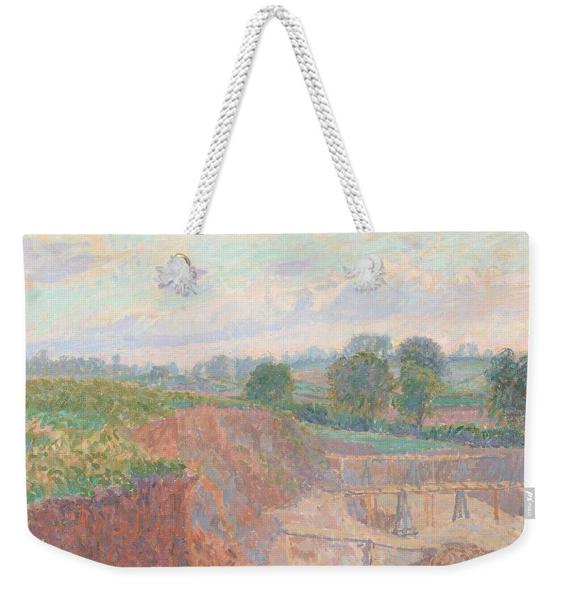 Spencer Frederick Gore (1878-1914) The Earthworks (or The Sandpit) Weekender Tote Bag featuring the painting The Earthworks by Spencer Frederick