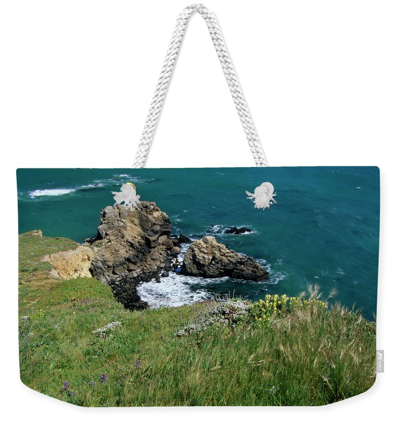 Point Reyes Weekender Tote Bag featuring the photograph The Edge by Soli Deo Gloria Wilderness And Wildlife Photography