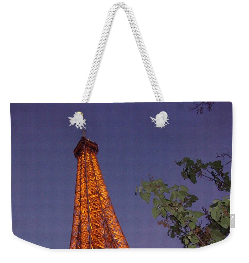 Tower Weekender Tote Bag featuring the photograph The Eiffel Tower Aglow by Nadine Rippelmeyer