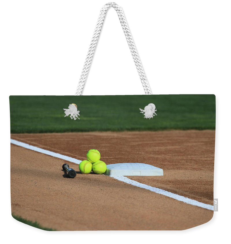 Softball Weekender Tote Bag featuring the photograph The Elements by Laddie Halupa