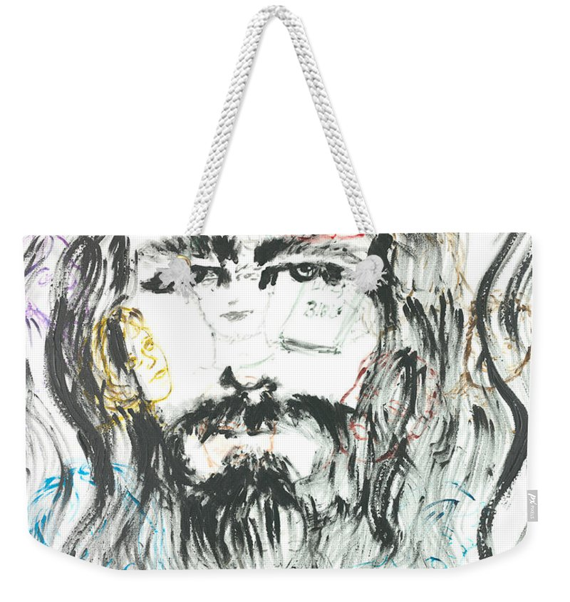 Jesus Weekender Tote Bag featuring the painting The Emotions Of Jesus by Nadine Rippelmeyer