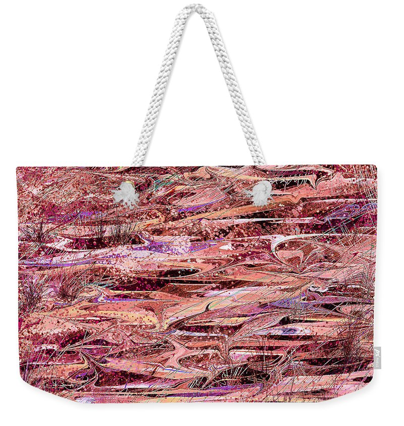 Abstract Weekender Tote Bag featuring the digital art The Enchanted Marsh by Rachel Christine Nowicki