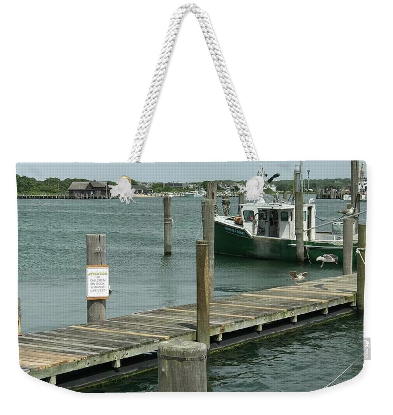 Fishing Weekender Tote Bag featuring the photograph The End by Jennifer Stark
