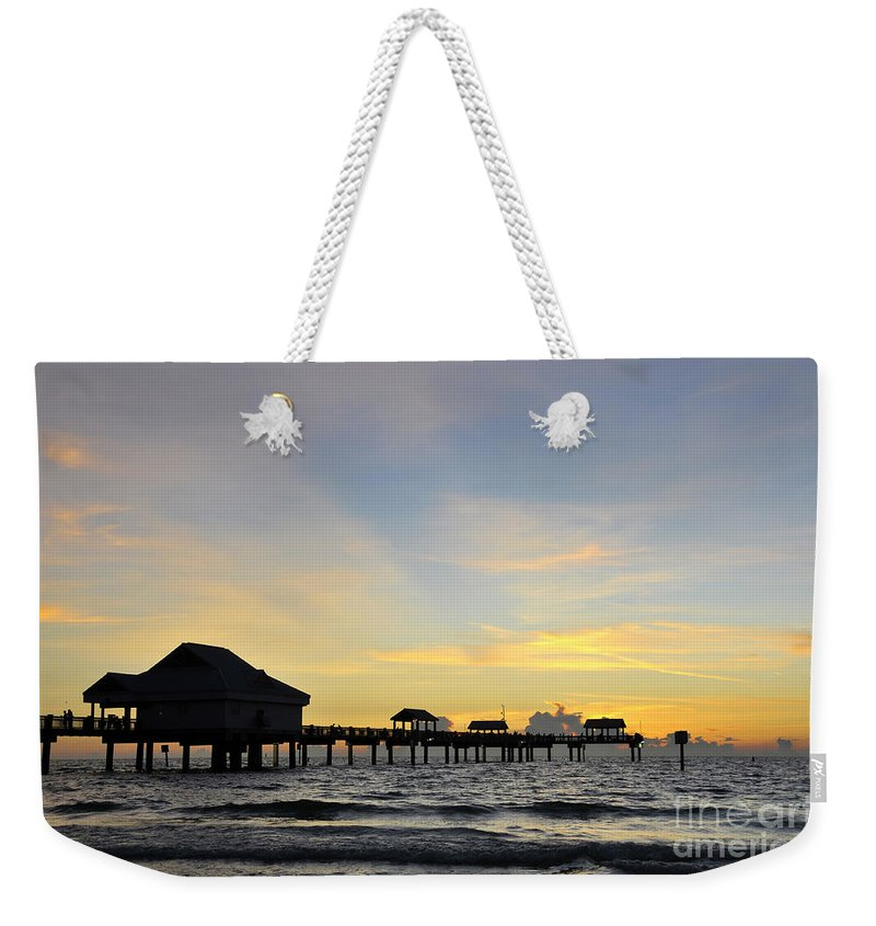 Sunset Weekender Tote Bag featuring the photograph The End Of A Beautiful Day by David Lee Thompson