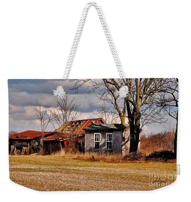 Landscape Weekender Tote Bag featuring the photograph The End Of Days by Lois Bryan