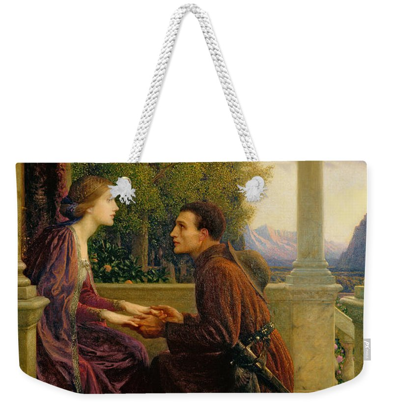 The Weekender Tote Bag featuring the painting The End Of The Quest by Sir Frank Dicksee