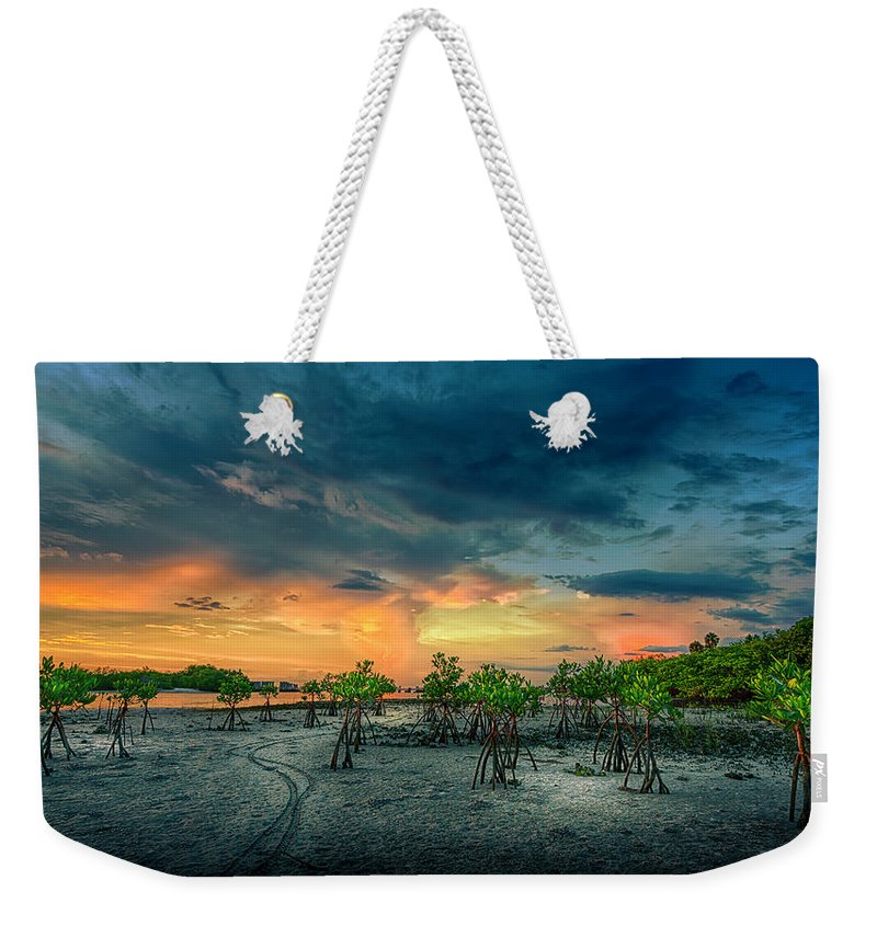 Florida Weekender Tote Bag featuring the photograph The Endless Trail by Marvin Spates