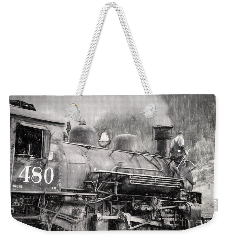 Steam Weekender Tote Bag featuring the photograph The Engineers Mistress by Janice Pariza