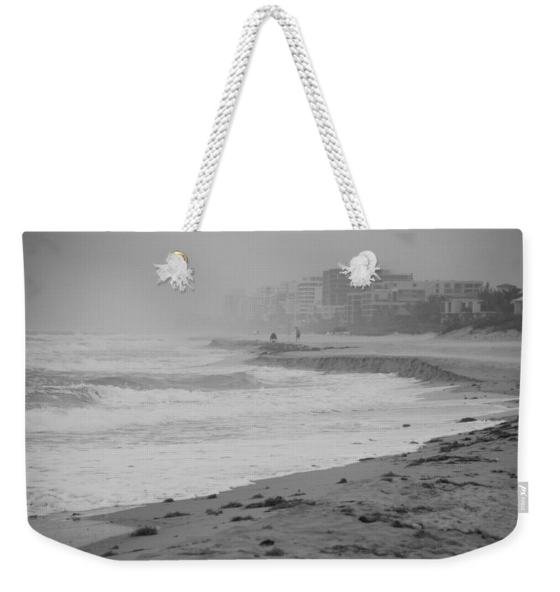 Black And White Weekender Tote Bag featuring the photograph The Eroded Coast by Rob Hans