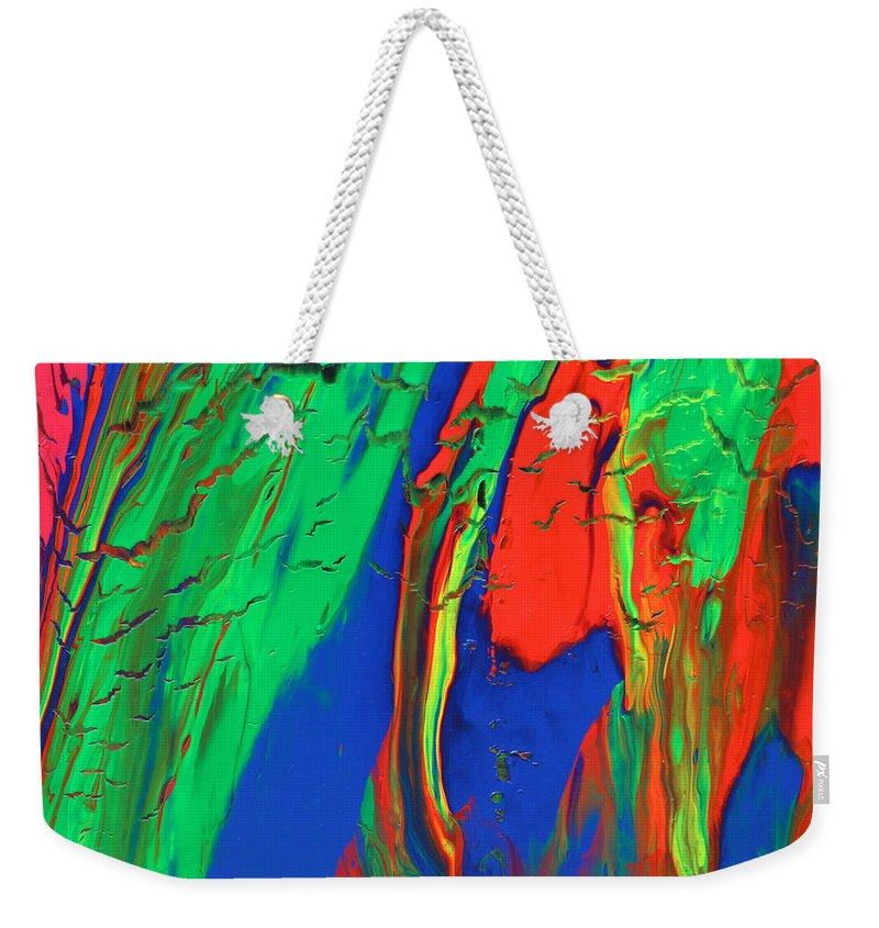 Fusionart Weekender Tote Bag featuring the painting The Escape by Ralph White