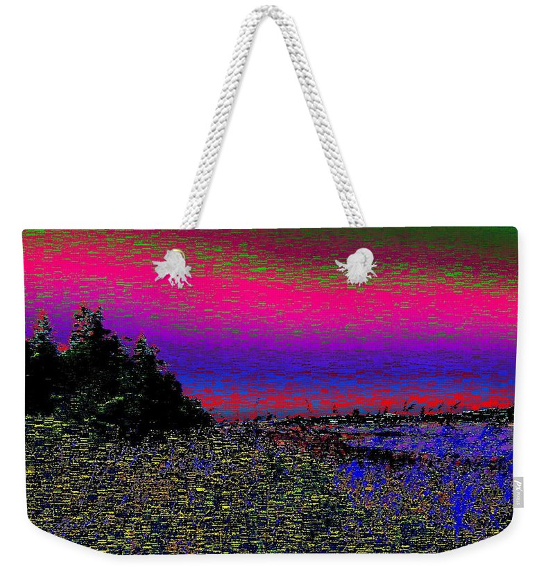Estuary Weekender Tote Bag featuring the digital art The Estuary by Tim Allen