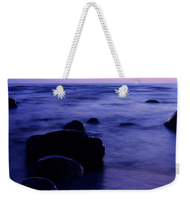 Abstract Weekender Tote Bag featuring the photograph The Evening by Konstantin Dikovsky