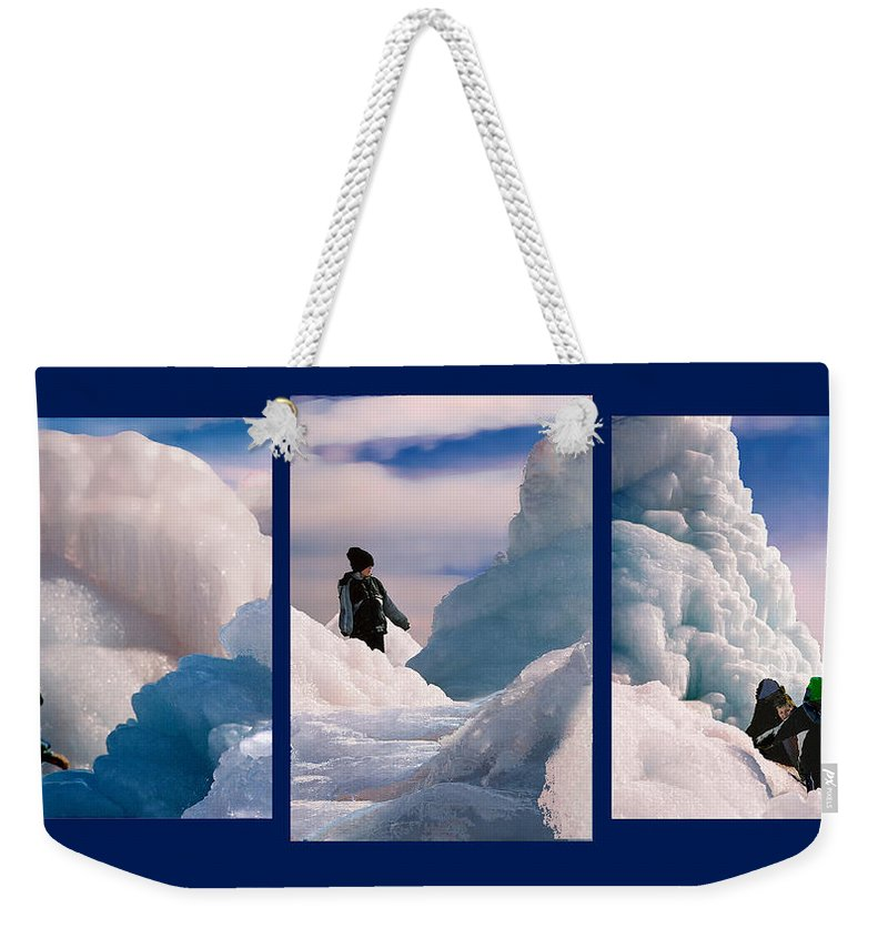 Landscape Weekender Tote Bag featuring the photograph The Explorers by Steve Karol