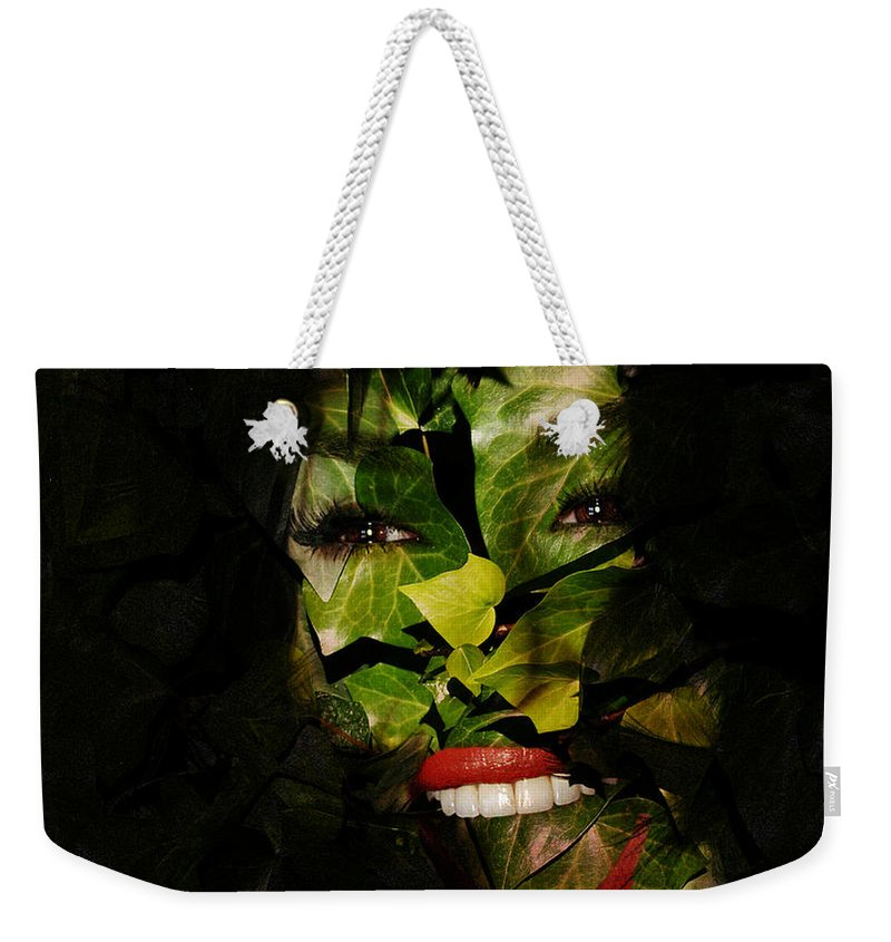 Clay Weekender Tote Bag featuring the photograph The Eyes Of Ivy by Clayton Bruster