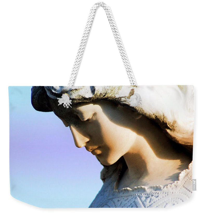 Angel Weekender Tote Bag featuring the photograph The Face Of An Angel by Susanne Van Hulst