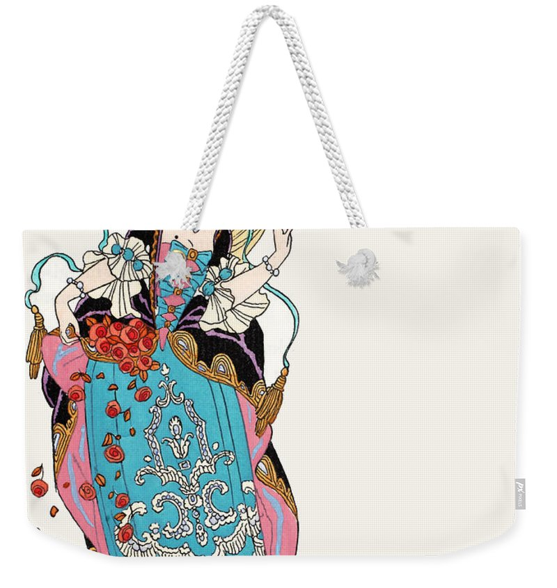 Fairy Godmother Weekender Tote Bag featuring the painting The Fairy Godmother by Georges Barbier