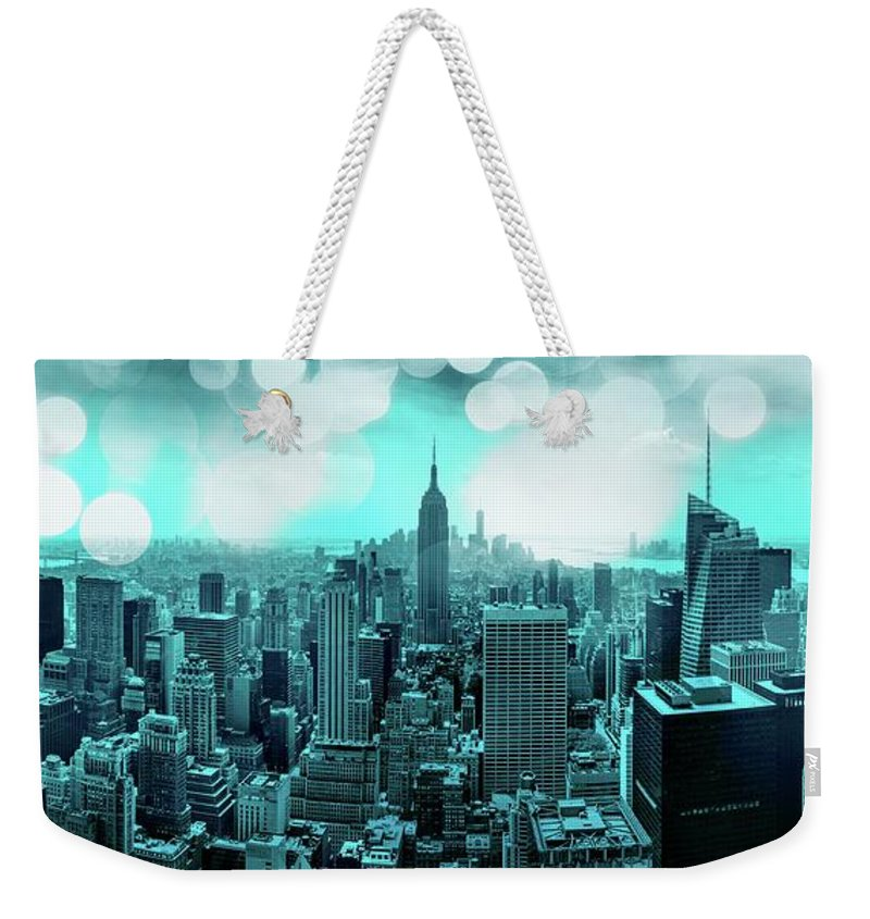 Empire State Building Weekender Tote Bag featuring the photograph The Fairytale Begins by Az Jackson