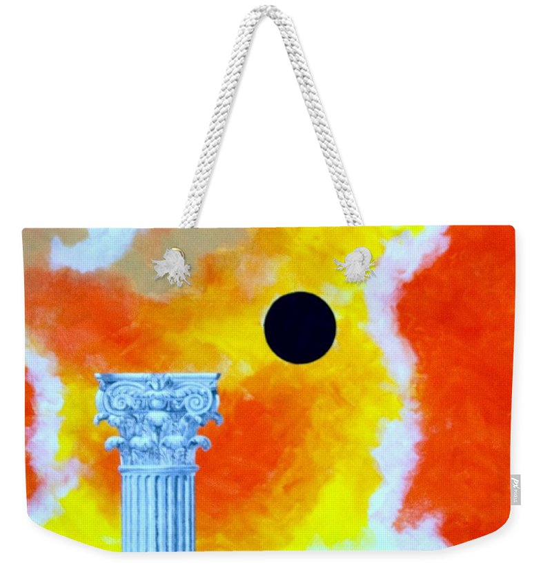 Expressionist Weekender Tote Bag featuring the painting The Fall Of Rome by Thomas Gronowski