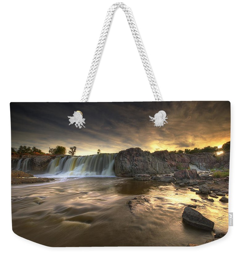 Weekender Tote Bag featuring the photograph The Falls by Aaron J Groen