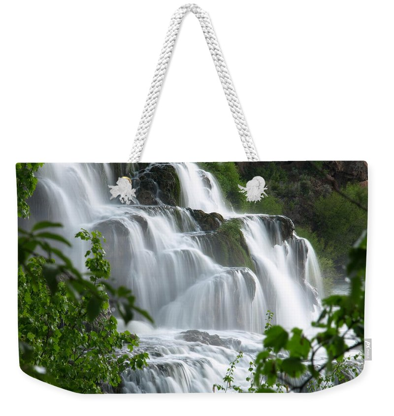 Water Weekender Tote Bag featuring the photograph The Falls by DeeLon Merritt