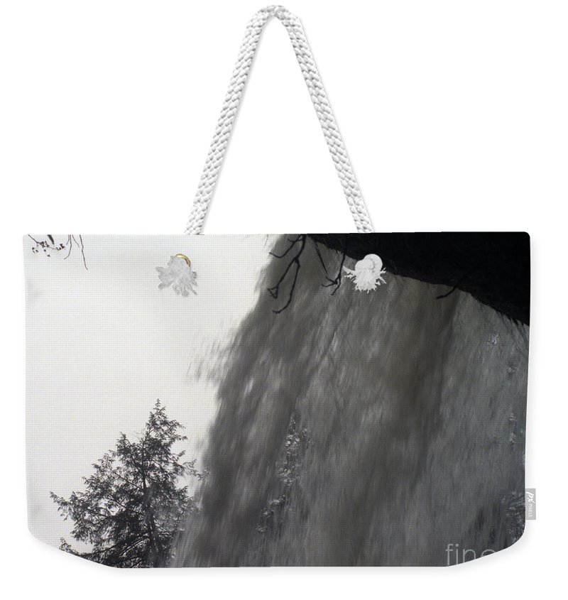 Waterfalls Weekender Tote Bag featuring the photograph The Falls by Richard Rizzo