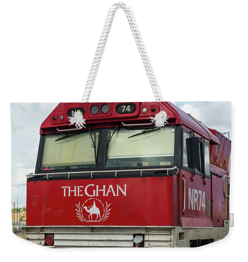 2017 Weekender Tote Bag featuring the photograph The Famed Ghan Train by Andrew Michael