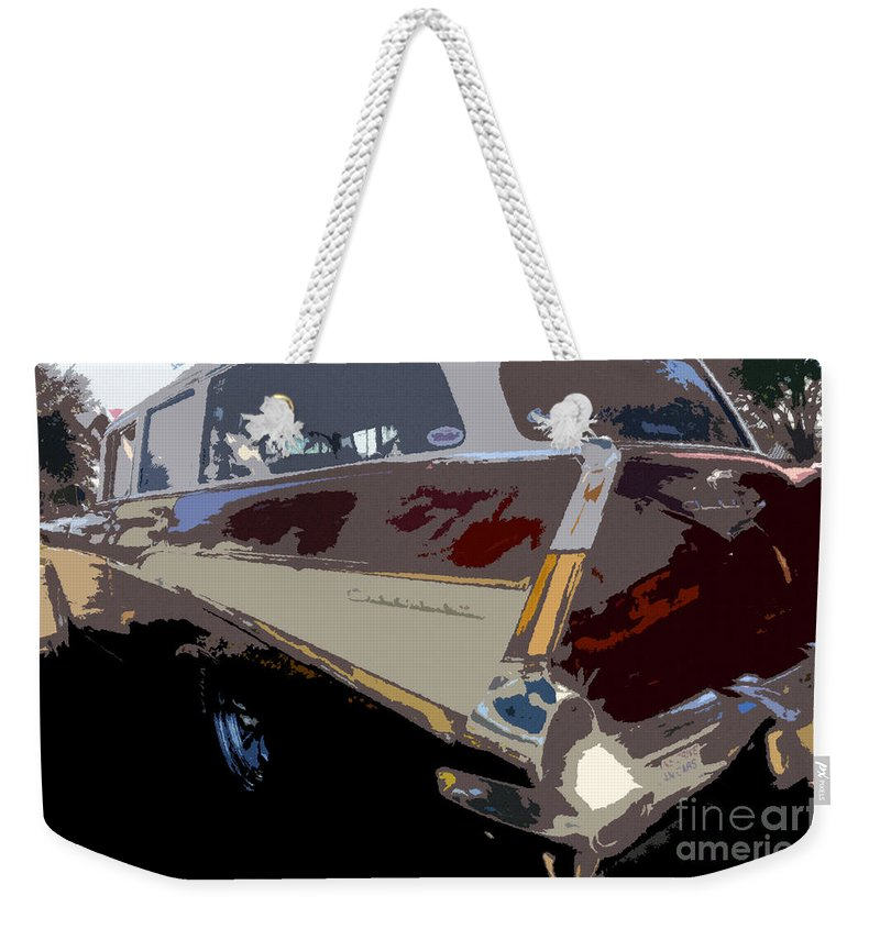 Art Weekender Tote Bag featuring the painting The Family Wagon by David Lee Thompson
